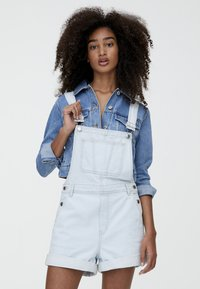 PULL&BEAR - Tuinbroek - light blue - 0