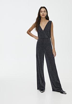 MIT GLITZER - Jumpsuit - dark grey