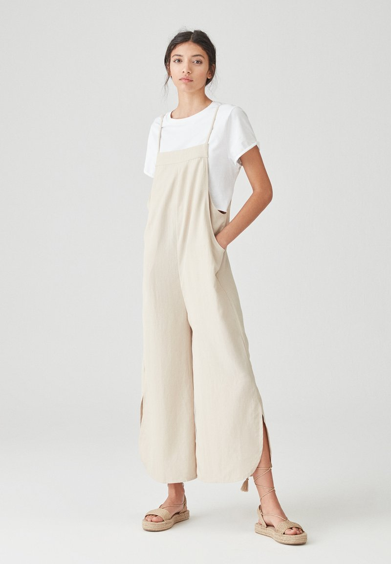 PULL&BEAR - Dungarees - beige