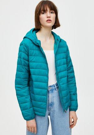 MIT KAPUZE - Jas - turquoise