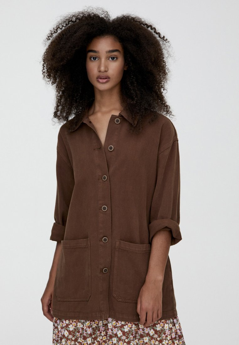 PULL&BEAR - IM WORKWEAR LOOK - Leichte Jacke - brown