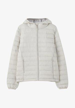 Zimní bunda - mottled light grey