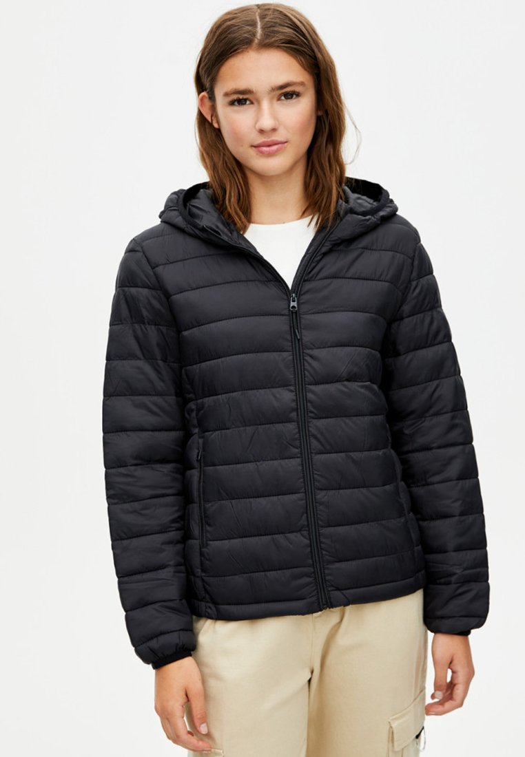 PULL&BEAR - BASIC-STEPPJACKE AUS NYLON 09714333 - Winter jacket - black