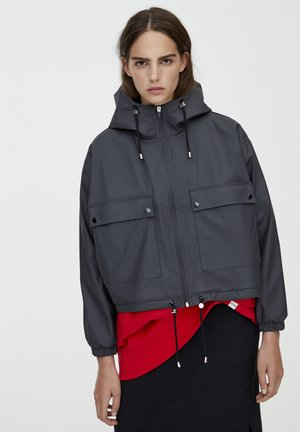 MIT KAPUZE - Waterproof jacket - dark grey