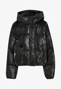 PULL&BEAR - MIT GLITZER - Zimní bunda - black - 5