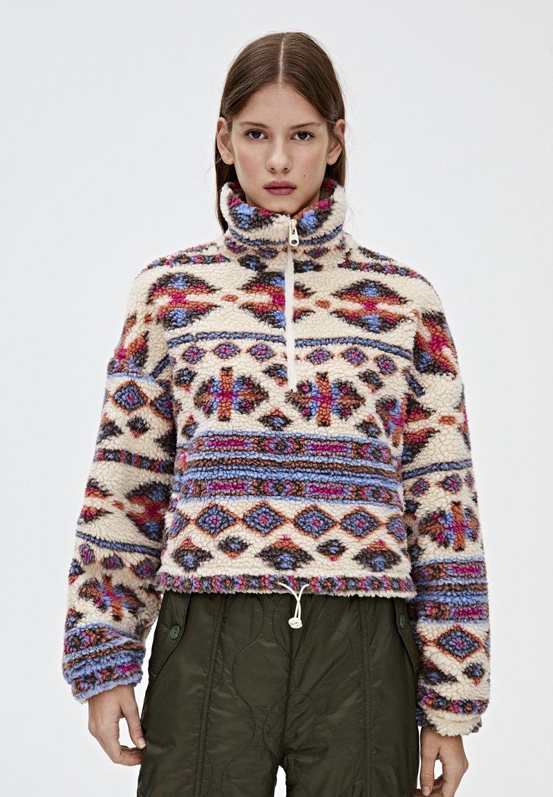 PULL&BEAR - Zimní bunda - mottled beige