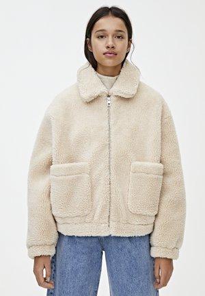 MIT LAMMFELLIMITAT  - Winter jacket - beige