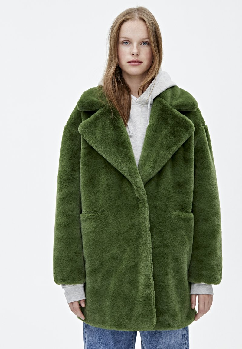 PULL&BEAR - Vinterkappa /-rock - dark green