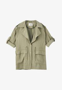 PULL&BEAR - Halflange jas - dark green - 6