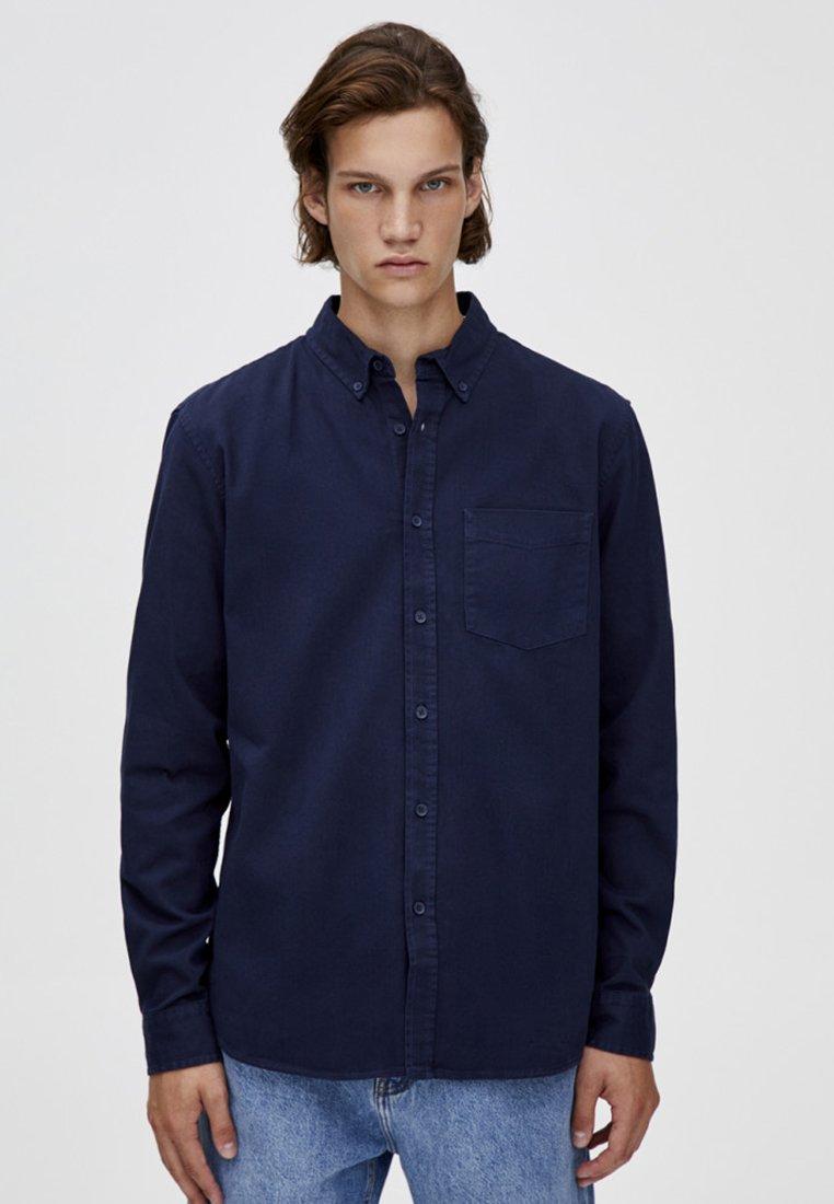 PULL&BEAR - MIT LANGEN ÄRMELN - Overhemd - blue