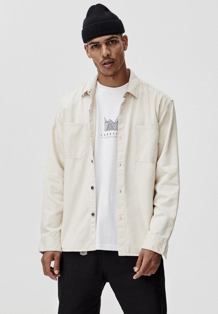PULL&BEAR - MIT VORDERTASCHEN - Hemd - white