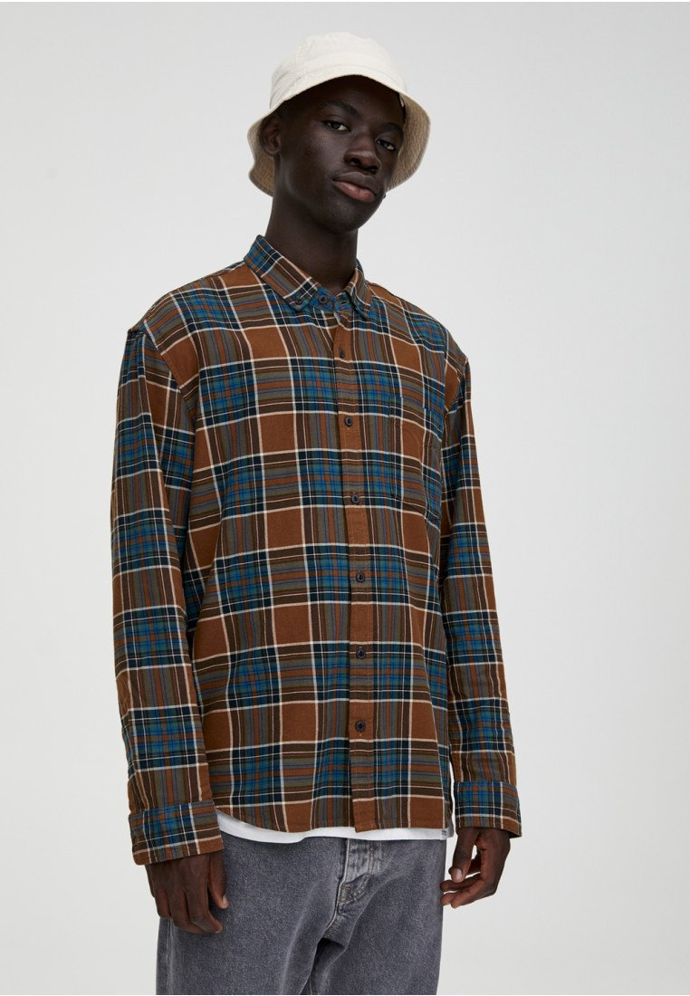 PULL&BEAR - Skjorter - yellow/brown