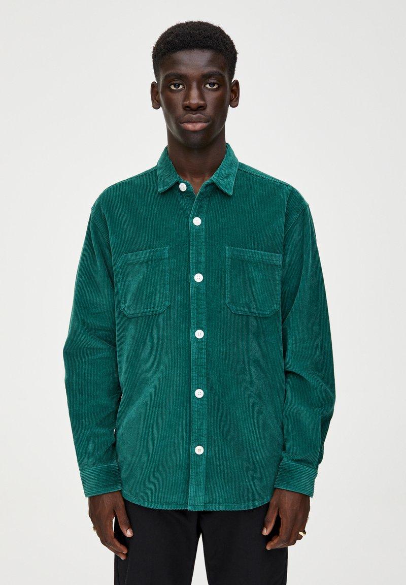 PULL&BEAR - Overhemd - dark green