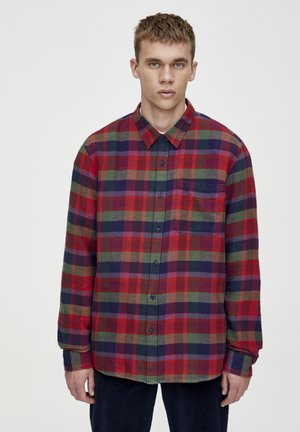 MIT BUNTEM KAROPRINT  - Košile - bordeaux