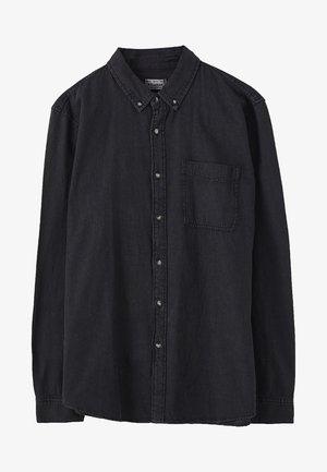 BASIC - Košile - mottled black
