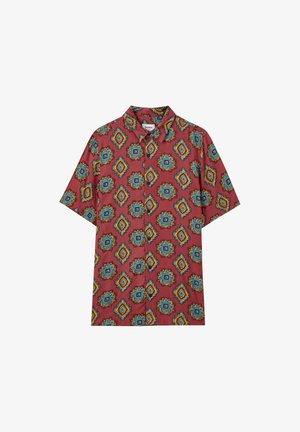 MIT KONTRASTPRINT - Košile - bordeaux