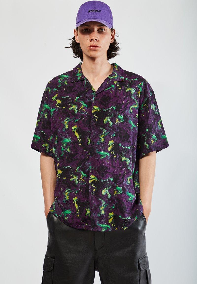 PULL&BEAR - Camicia - mottled purple