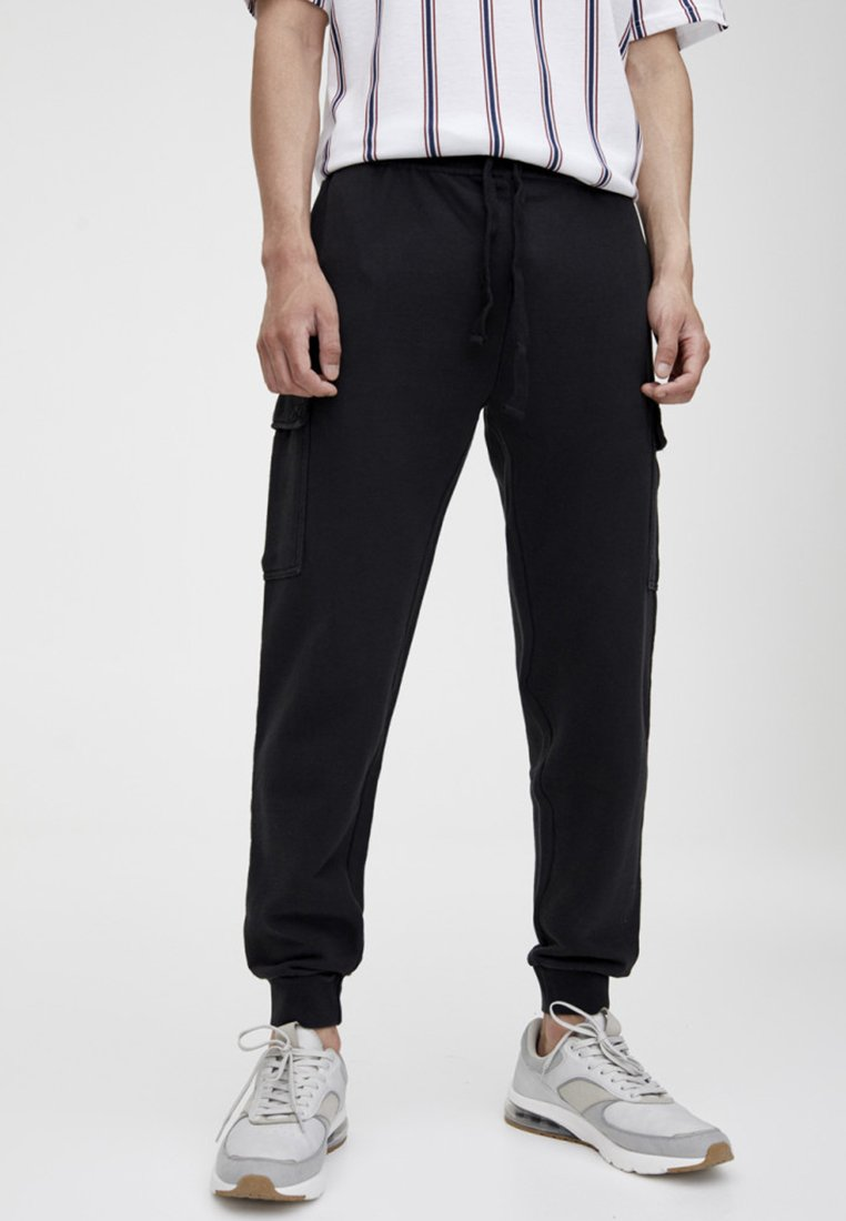 PULL&BEAR - Cargobroek - black