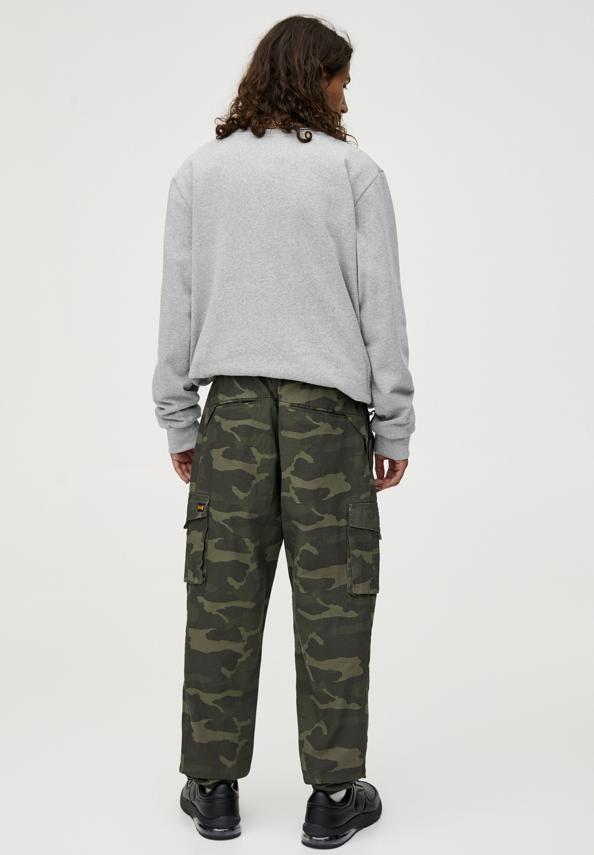 Pantaloni amp;bear Green Cargo Pull hdxoQtsrBC