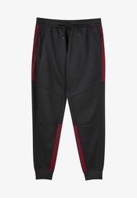 PULL&BEAR - IN KONTRASTFARBEN - Teplákové kalhoty - black - 5