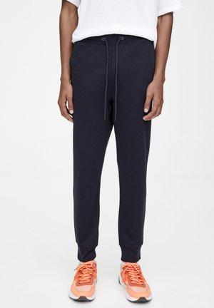 MIT PIKEE STRUKTURMUSTER - Pantalon de survêtement - blue