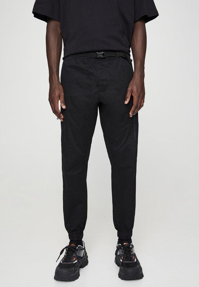 SCHWARZE CARGOHOSE 05671501 - Spodnie materiałowe - black