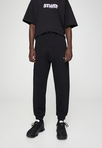 PULL&BEAR - BASIC - Spodnie treningowe - black - 0
