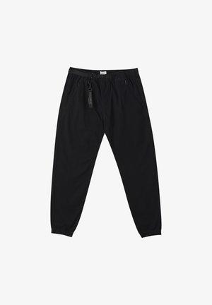 Pantalon classique - metallic black