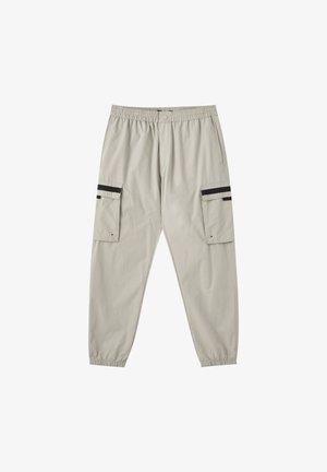 MIT TASCHEN  - Pantalon cargo - mottled dark grey