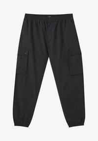 PULL&BEAR - MIT TASCHEN  - Cargo trousers - mottled black - 6