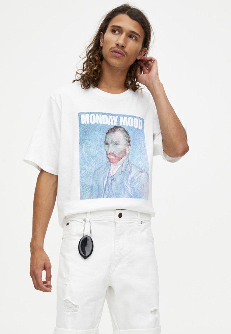 PULL&BEAR - Denim shorts - white
