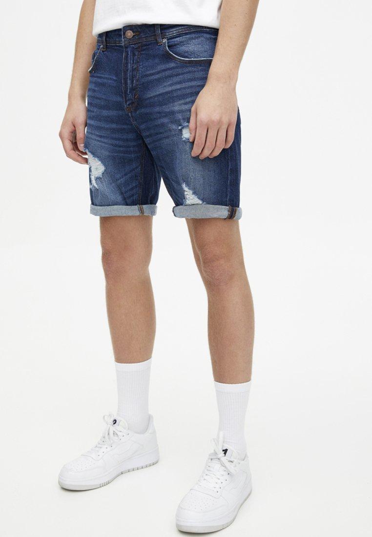 PULL&BEAR - Denim shorts - dark blue