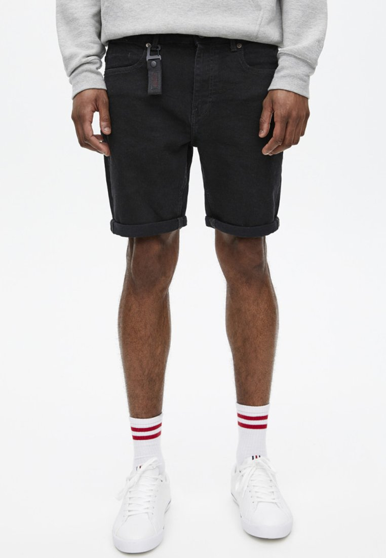 PULL&BEAR - Jeans Shorts - black