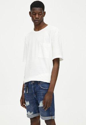 Shorts di jeans - dark-blue denim