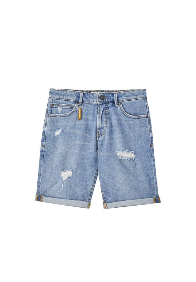MIT ZIERRISSEN - Szorty jeansowe - blue