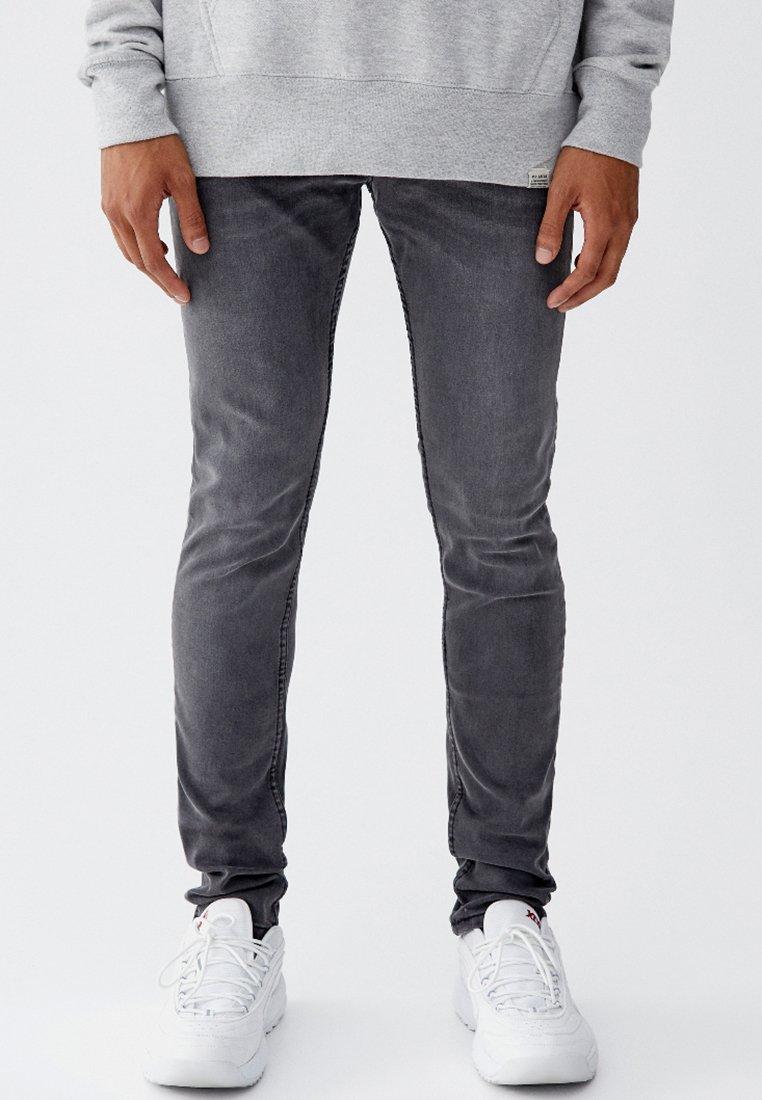 PULL&BEAR - Jeans Straight Leg - grey
