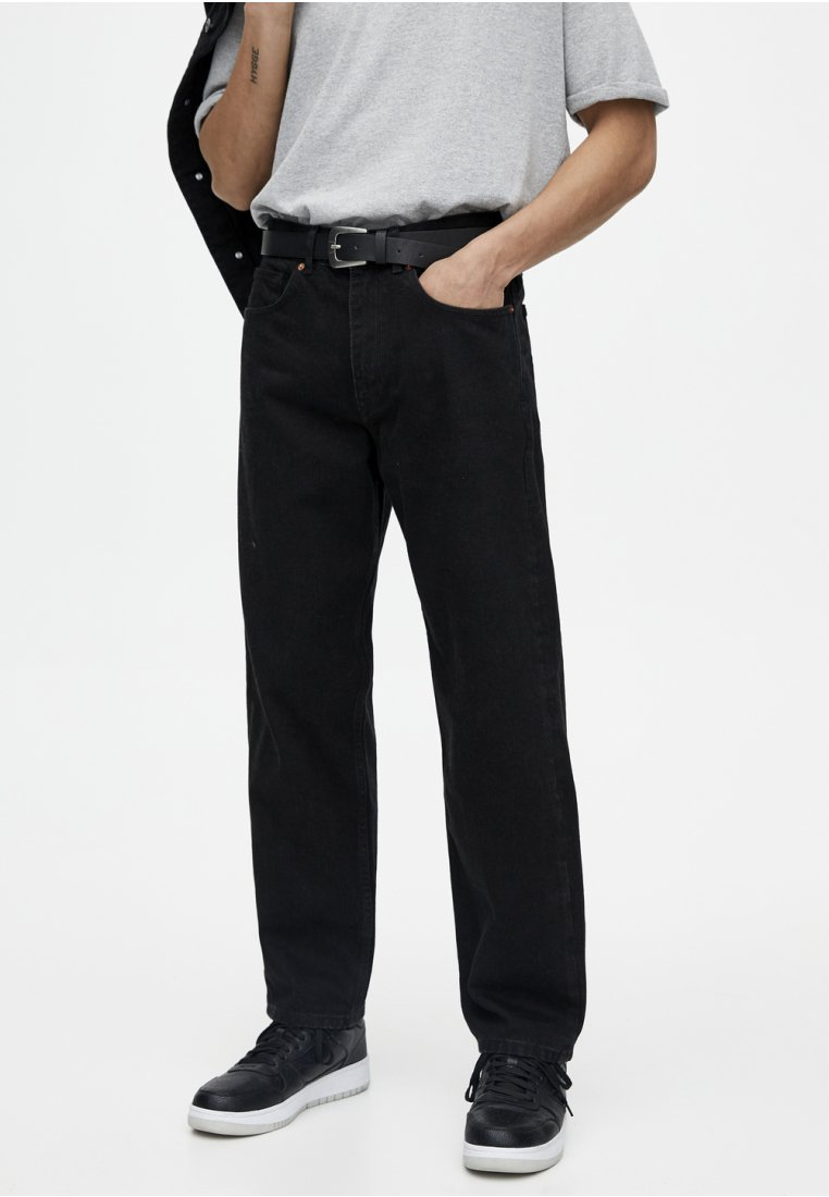 PULL&BEAR - Jeans Relaxed Fit - black