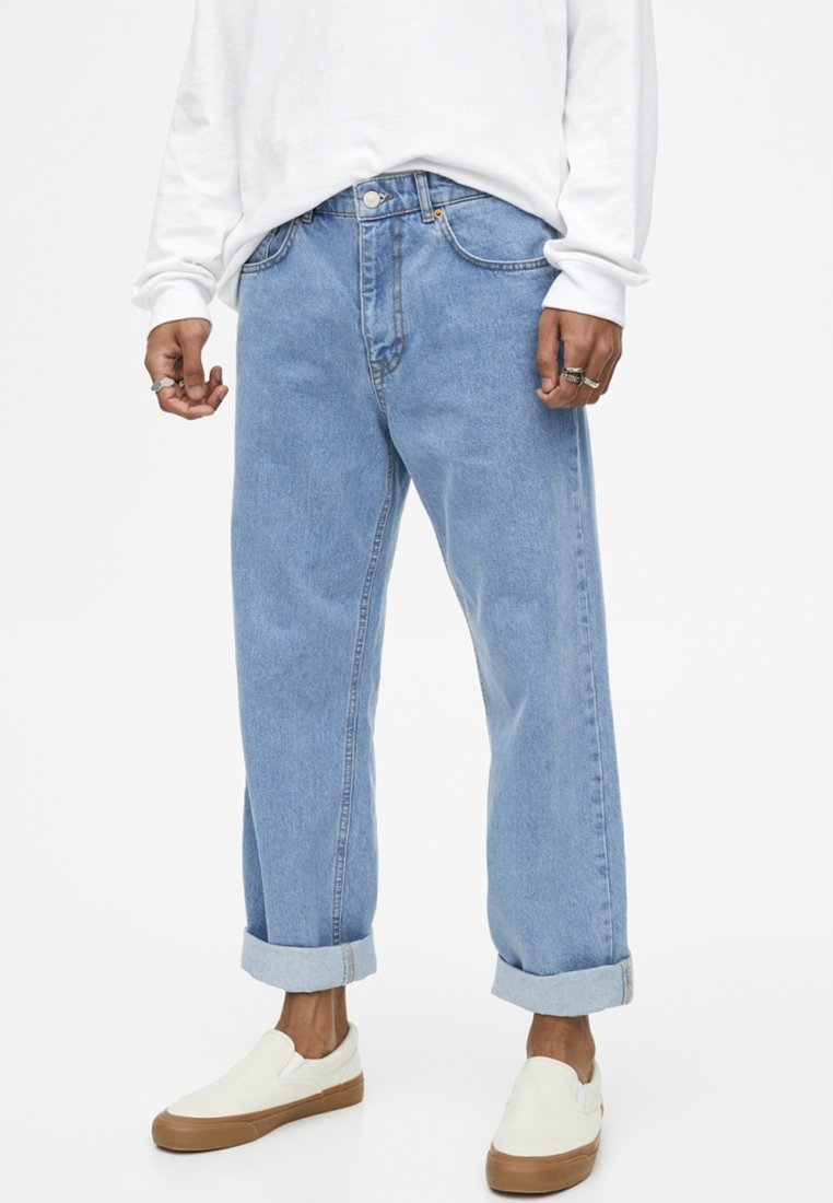 PULL&BEAR - Relaxed fit jeans - light blue