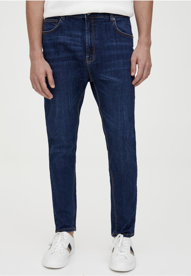 PULL&BEAR - Jeans slim fit - dark blue denim