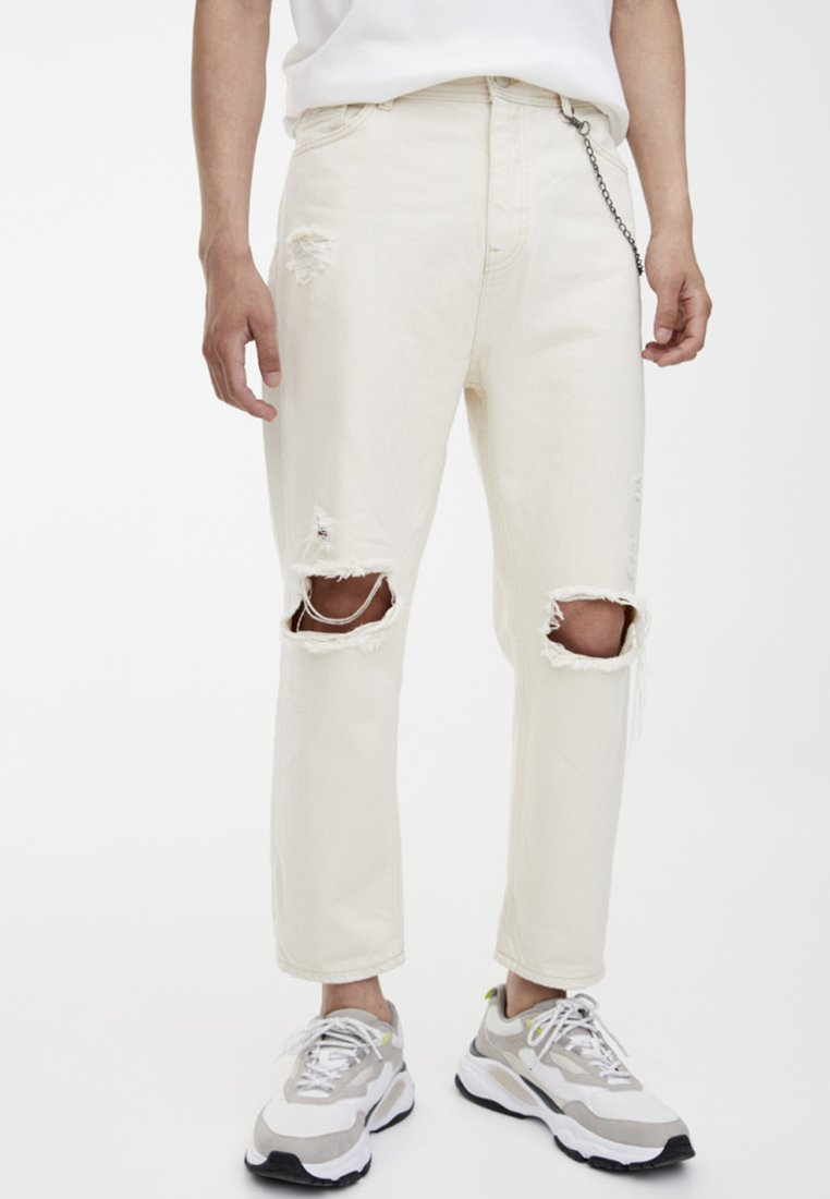 PULL&BEAR - Relaxed fit jeans - white