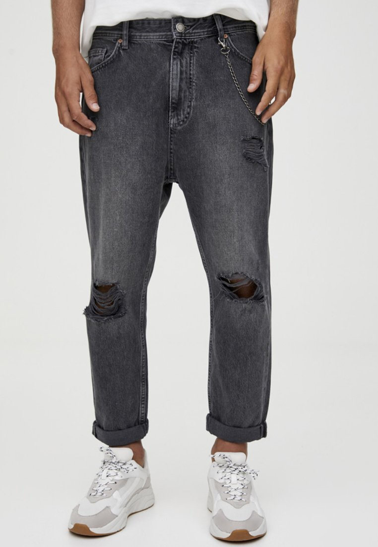 PULL&BEAR - Relaxed fit jeans - black