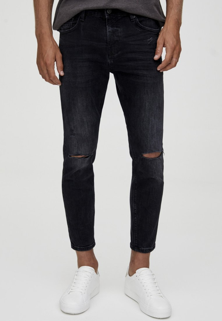 Black Mit amp;bear Skinny ZierrissenJeans Pull 9WE2DYHI