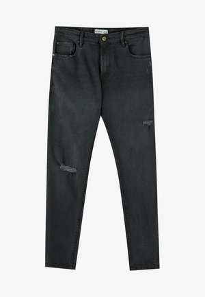 MIT RISSEN  - Jean slim - black