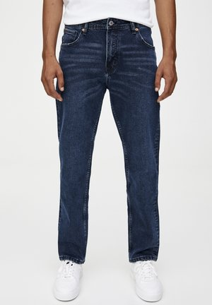 Straight leg -farkut - dark-blue denim