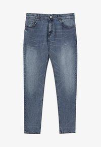 PULL&BEAR - IM USED-LOOK - Džíny Straight Fit - blue denim - 5