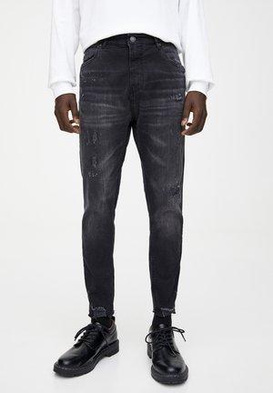 MIT RISSEN - Slim fit jeans - dark grey