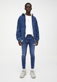 PULL&BEAR - MIT RISSEN  - Jean slim - royal blue