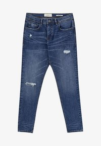 PULL&BEAR - MIT RISSEN  - Jean slim - royal blue - 6