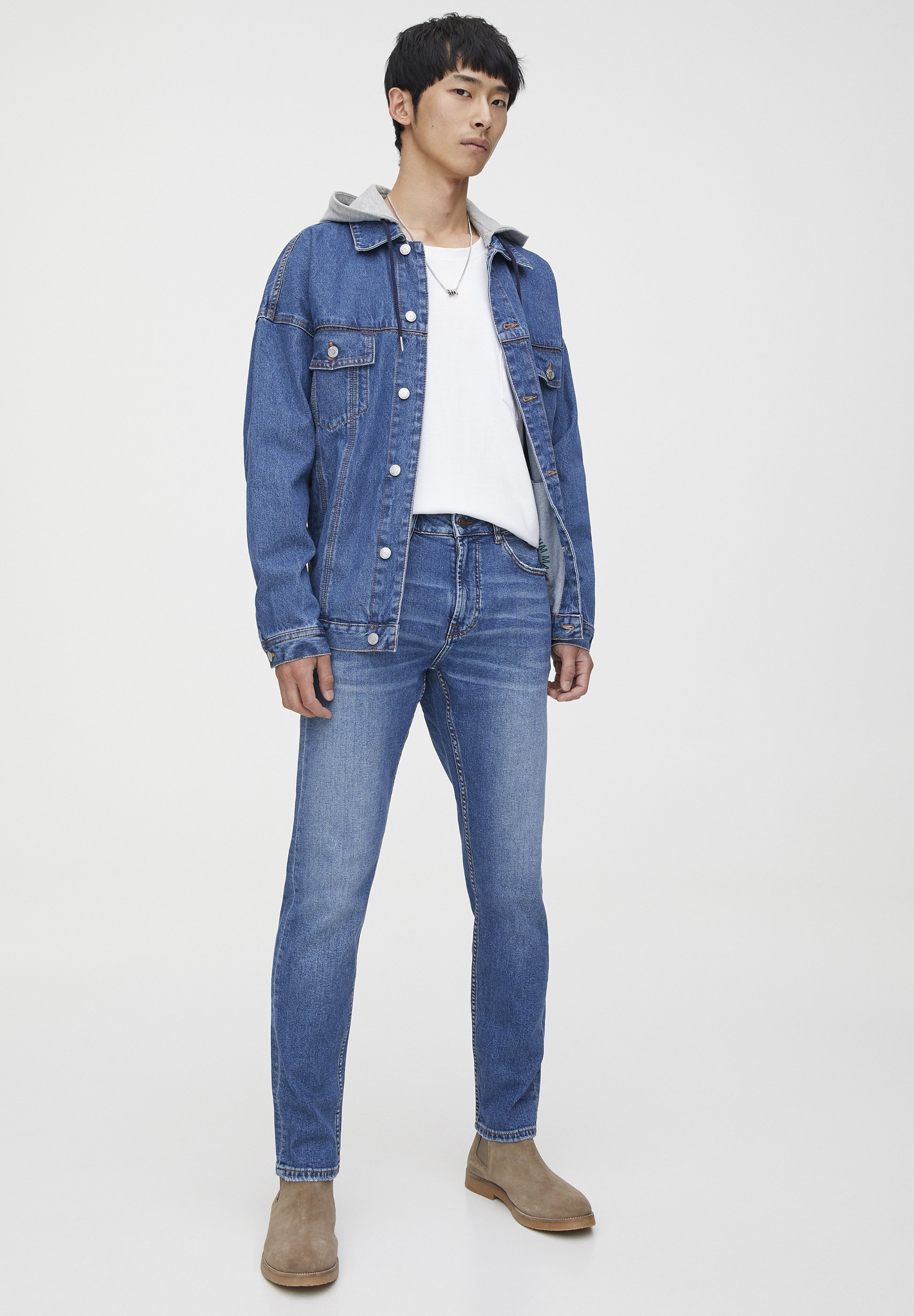 PULL&BEAR Jeansy Slim Fit - dark blue