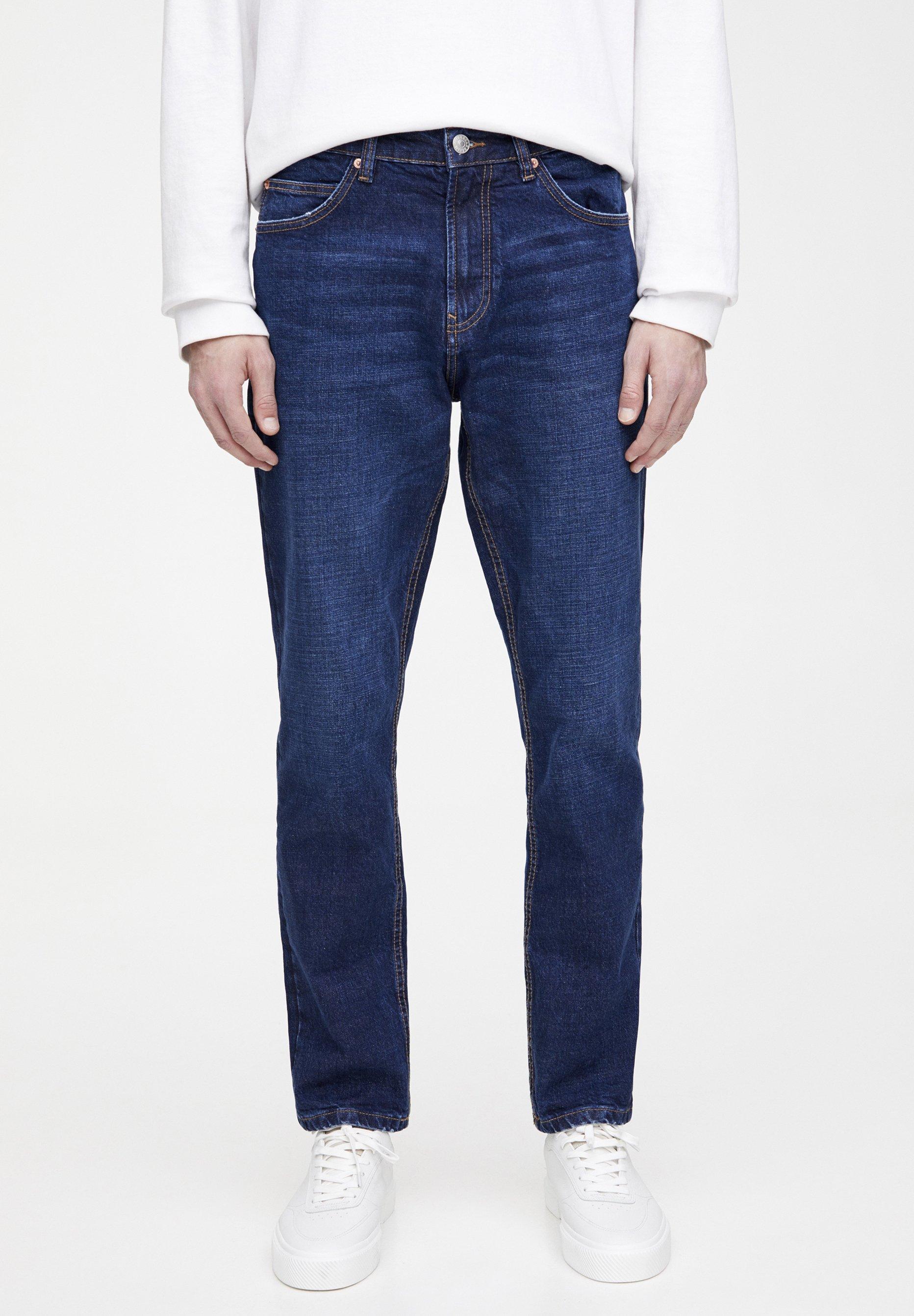 PULL&BEAR Jeansy Straight Leg - dark blue